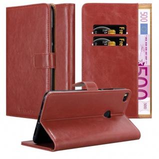 Cadorabo Hülle für Xiaomi Mi Max 2 in WEIN ROT - Handyhülle mit Magnetverschluss, Standfunktion und Kartenfach - Case Cover Schutzhülle Etui Tasche Book Klapp Style