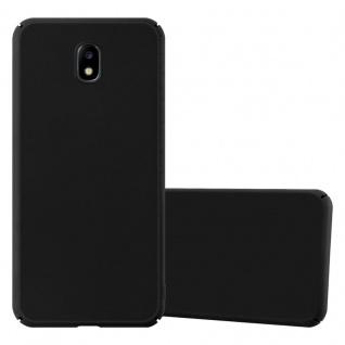 Cadorabo Hülle für Samsung Galaxy J7 2017 in METALL SCHWARZ ? Hardcase Handyhülle aus Plastik gegen Kratzer und Stöße ? Schutzhülle Bumper Ultra Slim Back Case Hard Cover