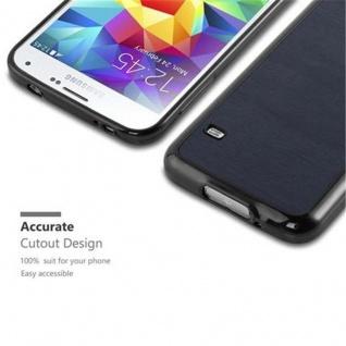 Cadorabo Hülle für Samsung Galaxy S5 / S5 NEO in WOODEN BLAU ? Handyhülle aus flexiblem TPU Silikon ? Silikonhülle Schutzhülle Ultra Slim Soft Back Cover Case Bumper - Vorschau 2