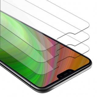 Cadorabo 3x Panzer Folie für Xiaomi Mi 8 LITE - Schutzfolie in KRISTALL KLAR - 3er Pack Gehärtetes (Tempered) Display-Schutzglas in 9H Härte mit 3D Touch Kompatibilität