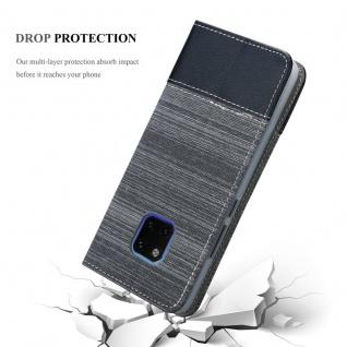 Cadorabo Hülle für Huawei MATE 20 PRO in GRAU SCHWARZ - Handyhülle mit Magnetverschluss, Standfunktion und Kartenfach - Case Cover Schutzhülle Etui Tasche Book Klapp Style - Vorschau 5