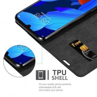Cadorabo Hülle für Huawei NOVA 5 / 5 PRO in NACHT SCHWARZ - Handyhülle mit Magnetverschluss, Standfunktion und Kartenfach - Case Cover Schutzhülle Etui Tasche Book Klapp Style - Vorschau 4
