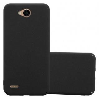 Cadorabo Hülle für LG X Power 2 in FROSTY SCHWARZ - Hardcase Handyhülle aus Plastik gegen Kratzer und Stöße - Schutzhülle Bumper Ultra Slim Back Case Hard Cover