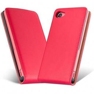 Cadorabo Hülle für Sony Xperia Z5 COMPACT in CHILI ROT - Handyhülle im Flip Design aus glattem Kunstleder - Case Cover Schutzhülle Etui Tasche Book Klapp Style - Vorschau 2