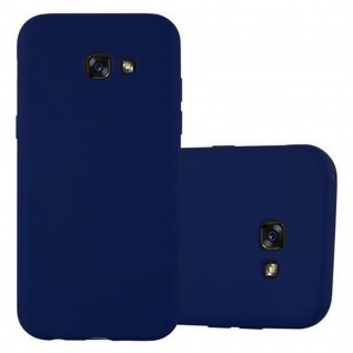 Cadorabo Hülle für Samsung Galaxy A3 2017 in CANDY DUNKELBLAU - Handyhülle aus flexiblem TPU Silikon - Silikonhülle Schutzhülle Ultra Slim Soft Back Cover Case Bumper