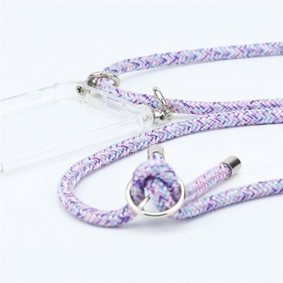 Cadorabo Handy Kette für Honor 30 in UNICORN Silikon Necklace Umhänge Hülle mit Silber Ringen, Kordel Band Schnur und abnehmbarem Etui Schutzhülle - Vorschau 2