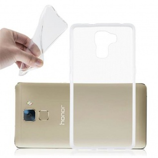 Cadorabo Hülle für Honor 7 in VOLL TRANSPARENT - Handyhülle aus flexiblem TPU Silikon - Silikonhülle Schutzhülle Ultra Slim Soft Back Cover Case Bumper