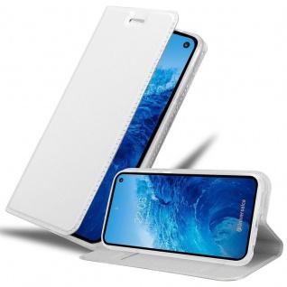 Cadorabo Hülle für Samsung Galaxy S10e in CLASSY SILBER - Handyhülle mit Magnetverschluss, Standfunktion und Kartenfach - Case Cover Schutzhülle Etui Tasche Book Klapp Style