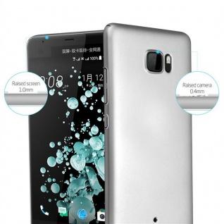 Cadorabo Hülle für HTC U ULTRA in METALL SILBER - Hardcase Handyhülle aus Plastik gegen Kratzer und Stöße - Schutzhülle Bumper Ultra Slim Back Case Hard Cover - Vorschau 2