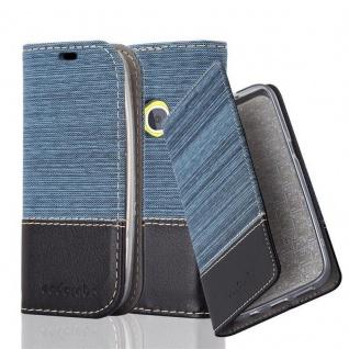 Cadorabo Hülle für Nokia 3310 in DUNKEL BLAU SCHWARZ - Handyhülle mit Magnetverschluss, Standfunktion und Kartenfach - Case Cover Schutzhülle Etui Tasche Book Klapp Style