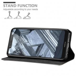 Cadorabo Hülle für Nokia 5.1 PLUS in KAFFEE BRAUN - Handyhülle mit Magnetverschluss, Standfunktion und Kartenfach - Case Cover Schutzhülle Etui Tasche Book Klapp Style - Vorschau 4