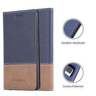 Cadorabo Hülle für Huawei P8 LITE 2015 in BLAU BRAUN ? Handyhülle mit Magnetverschluss, Standfunktion und Kartenfach ? Case Cover Schutzhülle Etui Tasche Book Klapp Style