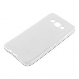 Cadorabo Hülle für Samsung Galaxy A8 2015 in HALB TRANSPARENT - Handyhülle aus flexiblem TPU Silikon - Silikonhülle Schutzhülle Ultra Slim Soft Back Cover Case Bumper - Vorschau 2