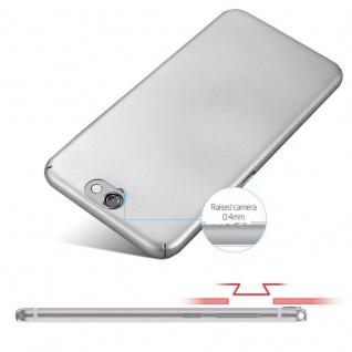 Cadorabo Hülle für HTC One A9 in METALL SILBER ? Hardcase Handyhülle aus Plastik gegen Kratzer und Stöße ? Schutzhülle Bumper Ultra Slim Back Case Hard Cover - Vorschau 4
