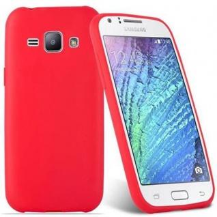 Cadorabo Hülle für Samsung Galaxy J1 2015 in CANDY ROT - Handyhülle aus flexiblem TPU Silikon - Silikonhülle Schutzhülle Ultra Slim Soft Back Cover Case Bumper - Vorschau 2