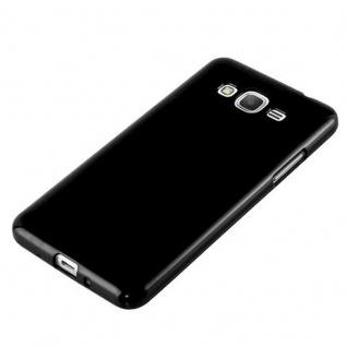 Cadorabo Hülle für Samsung Galaxy GRAND PRIME in JELLY SCHWARZ ? Handyhülle aus flexiblem TPU Silikon ? Silikonhülle Schutzhülle Ultra Slim Soft Back Cover Case Bumper - Vorschau 2