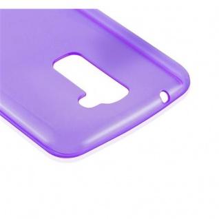 Cadorabo Hülle für LG K10 2016 in TRANSPARENT LILA - Handyhülle aus flexiblem TPU Silikon - Silikonhülle Schutzhülle Ultra Slim Soft Back Cover Case Bumper - Vorschau 4