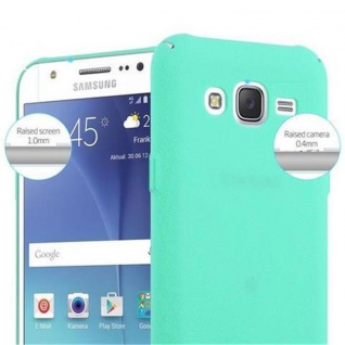 Cadorabo Hülle für Samsung Galaxy J5 2015 in FROSTY GRÜN - Hardcase Handyhülle aus Plastik gegen Kratzer und Stöße - Schutzhülle Bumper Ultra Slim Back Case Hard Cover - Vorschau 5