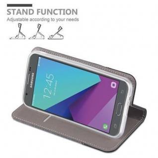Cadorabo Hülle für Samsung Galaxy J5 2017 (US Version) in GRAU SCHWARZ - Handyhülle mit Magnetverschluss, Standfunktion und Kartenfach - Case Cover Schutzhülle Etui Tasche Book Klapp Style - Vorschau 4