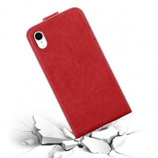 Cadorabo Hülle für Apple iPhone XR in APFEL ROT - Handyhülle im Flip Design mit Magnetverschluss - Case Cover Schutzhülle Etui Tasche Book Klapp Style - Vorschau 5