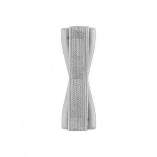 Cadorabo - Finger-Halterung Sling Grip für Smartphone / Tablet / iPod / eReader Griff Henkel Sling Schlaufe Riemen in SILBER