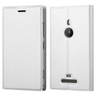Cadorabo Hülle für Nokia Lumia 925 in CLASSY SILBER - Handyhülle mit Magnetverschluss, Standfunktion und Kartenfach - Case Cover Schutzhülle Etui Tasche Book Klapp Style