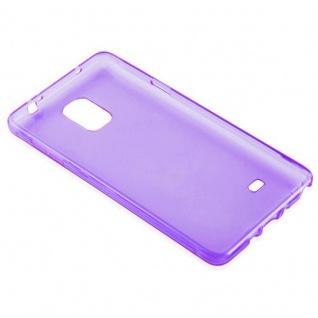 Cadorabo Hülle für Samsung Galaxy NOTE 4 in TRANSPARENT LILA - Handyhülle aus flexiblem TPU Silikon - Silikonhülle Schutzhülle Ultra Slim Soft Back Cover Case Bumper - Vorschau 3