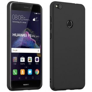 Cadorabo Hülle für Huawei P8 LITE 2017 in METALL SCHWARZ ? Hardcase Handyhülle aus Plastik gegen Kratzer und Stöße ? Schutzhülle Bumper Ultra Slim Back Case Hard Cover