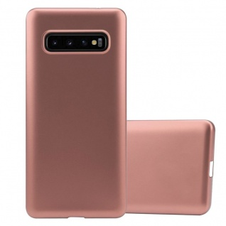 Cadorabo Hülle für Samsung Galaxy S10 PLUS in METALLIC ROSÉ GOLD - Handyhülle aus flexiblem TPU Silikon - Silikonhülle Schutzhülle Ultra Slim Soft Back Cover Case Bumper