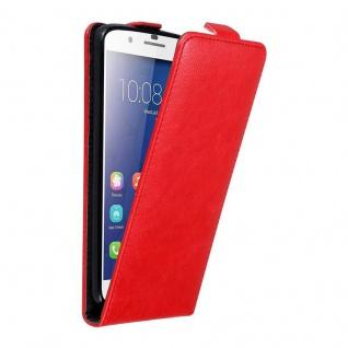 Cadorabo Hülle für Honor 6 PLUS in APFEL ROT - Handyhülle im Flip Design mit unsichtbarem Magnetverschluss - Case Cover Schutzhülle Etui Tasche Book Klapp Style