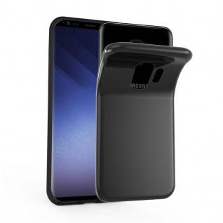 Cadorabo Hülle für Samsung Galaxy S9 in SCHWARZ - Handyhülle aus flexiblem TPU Silikon - Silikonhülle Schutzhülle Ultra Slim Soft Back Cover Case Bumper