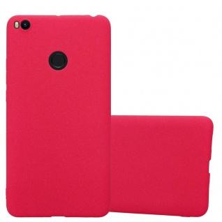 Cadorabo Hülle für Xiaomi Mi Max 2 in FROST ROT - Handyhülle aus flexiblem TPU Silikon - Silikonhülle Schutzhülle Ultra Slim Soft Back Cover Case Bumper