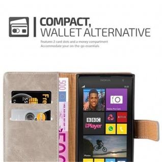 Cadorabo Hülle für Nokia Lumia 1020 in CAPPUCCINO BRAUN ? Handyhülle mit Magnetverschluss, Standfunktion und Kartenfach ? Case Cover Schutzhülle Etui Tasche Book Klapp Style - Vorschau 3