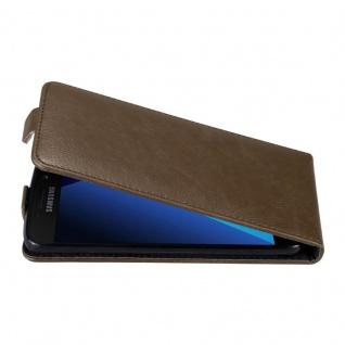 Cadorabo Hülle für Samsung Galaxy A3 2017 in KAFFEE BRAUN Handyhülle im Flip Design mit unsichtbarem Magnetverschluss Case Cover Schutzhülle Etui Tasche Book Klapp Style