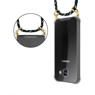 Cadorabo Handy Kette für Samsung Galaxy A3 2016 in CAMOUFLAGE ? Silikon Necklace Umhänge Hülle mit Gold Ringen, Kordel Band Schnur und abnehmbarem Etui ? Schutzhülle - Vorschau 4