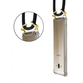 Cadorabo Handy Kette für Samsung Galaxy J7 2015 in SCHWARZ ? Silikon Necklace Umhänge Hülle mit Gold Ringen, Kordel Band Schnur und abnehmbarem Etui ? Schutzhülle - Vorschau 5