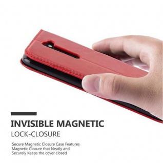 Cadorabo Hülle für LG K7 2017 in APFEL ROT Handyhülle mit Magnetverschluss, Standfunktion und Kartenfach Case Cover Schutzhülle Etui Tasche Book Klapp Style - Vorschau 4