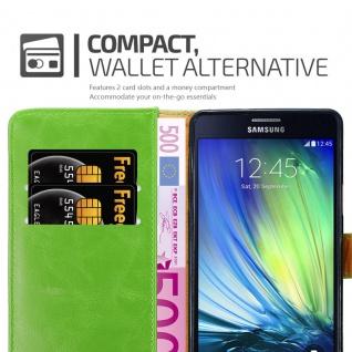 Cadorabo Hülle für Samsung Galaxy A7 2015 in GRAS GRÜN - Handyhülle mit Magnetverschluss, Standfunktion und Kartenfach - Case Cover Schutzhülle Etui Tasche Book Klapp Style - Vorschau 5