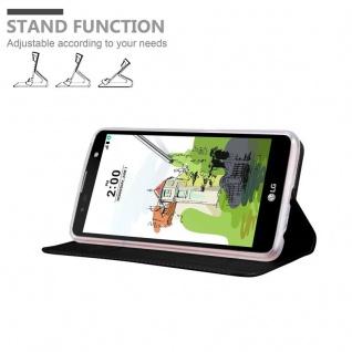 Cadorabo Hülle für LG Stylus 2 in CLASSY SCHWARZ - Handyhülle mit Magnetverschluss, Standfunktion und Kartenfach - Case Cover Schutzhülle Etui Tasche Book Klapp Style - Vorschau 4