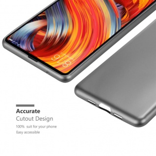Cadorabo Hülle für Xiaomi Mi Mix 2 in METALLIC GRAU - Handyhülle aus flexiblem TPU Silikon - Silikonhülle Schutzhülle Ultra Slim Soft Back Cover Case Bumper - Vorschau 5