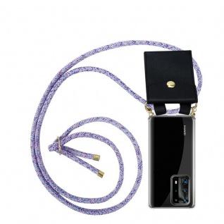 Cadorabo Handy Kette für Huawei P40 Pro+ in UNICORN Silikon Necklace Umhänge Hülle mit Gold Ringen, Kordel Band Schnur und abnehmbarem Etui Schutzhülle