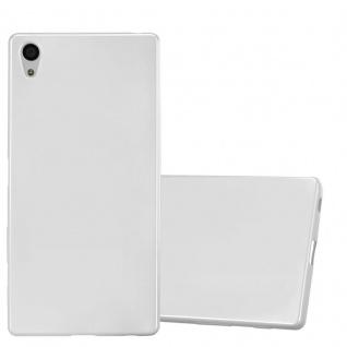 Cadorabo Hülle für Sony Xperia Z5 PREMIUM in METALLIC SILBER - Handyhülle aus flexiblem TPU Silikon - Silikonhülle Schutzhülle Ultra Slim Soft Back Cover Case Bumper