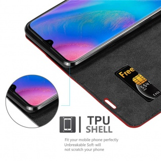 Cadorabo Hülle für Huawei P30 PRO in APFEL ROT Handyhülle mit Magnetverschluss, Standfunktion und Kartenfach Case Cover Schutzhülle Etui Tasche Book Klapp Style - Vorschau 2