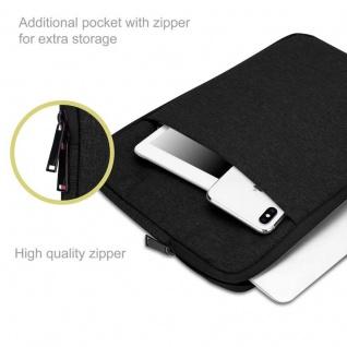 """"""" Cadorabo Laptop / Tablet Tasche 13, 3'"""" Zoll in SCHWARZ ? Notebook Computer Tasche aus Stoff mit Samt-Innenfutter und Fach mit Anti-Kratz Reißverschluss ? Schutzhülle Sleeve Case"""" - Vorschau 2"""