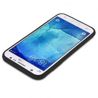 Cadorabo Hülle für Samsung Galaxy J5 2015 in CANDY SCHWARZ - Handyhülle aus flexiblem TPU Silikon - Silikonhülle Schutzhülle Ultra Slim Soft Back Cover Case Bumper - Vorschau 3