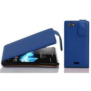 Cadorabo Hülle für Sony Xperia J in KÖNIGS BLAU - Handyhülle im Flip Design aus strukturiertem Kunstleder - Case Cover Schutzhülle Etui Tasche Book Klapp Style