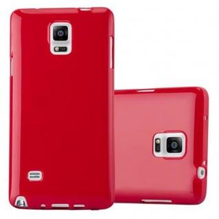 Cadorabo Hülle für Samsung Galaxy NOTE 4 in JELLY ROT ? Handyhülle aus flexiblem TPU Silikon ? Silikonhülle Schutzhülle Ultra Slim Soft Back Cover Case Bumper