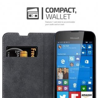 Cadorabo Hülle für Nokia Lumia 550 in SCHWARZ BRAUN ? Handyhülle mit Magnetverschluss, Standfunktion und Kartenfach ? Case Cover Schutzhülle Etui Tasche Book Klapp Style - Vorschau 5