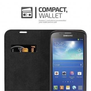 Cadorabo Hülle für Samsung Galaxy S4 ACTIVE in NACHT SCHWARZ - Handyhülle mit Magnetverschluss, Standfunktion und Kartenfach - Case Cover Schutzhülle Etui Tasche Book Klapp Style - Vorschau 5