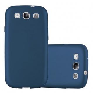 Cadorabo Hülle für Samsung Galaxy S3 / S3 NEO in METALL BLAU - Hardcase Handyhülle aus Plastik gegen Kratzer und Stöße - Schutzhülle Bumper Ultra Slim Back Case Hard Cover